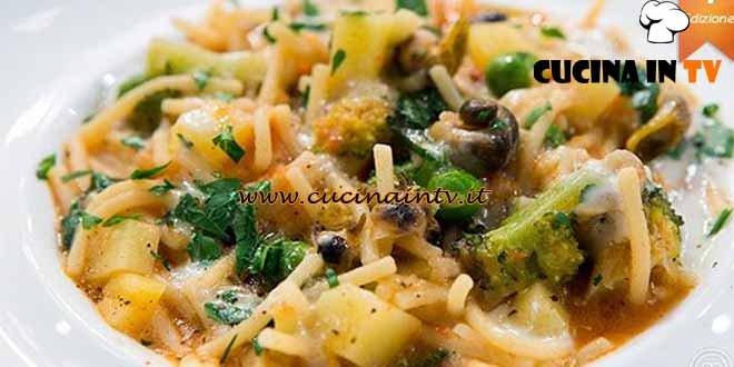 Masterchef 4 - ricetta Risotto di spaghetti orto e mare di Stefano