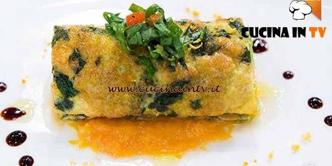 Masterchef 4 - ricetta Rotolo di frittata con verdure di Paolo