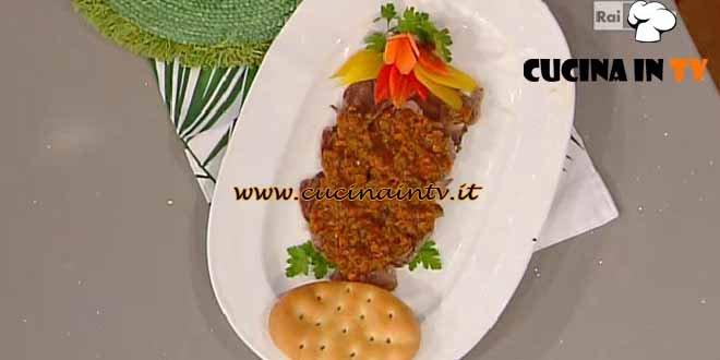 La Prova del Cuoco - Salsa cotta di una volta su muscolo bollito ricetta Moroni