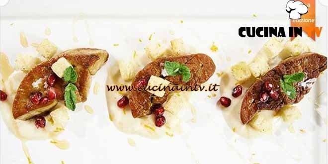 Masterchef 4 - ricetta Scaloppa di foie gras su vellutata di gorgonzola di Simone