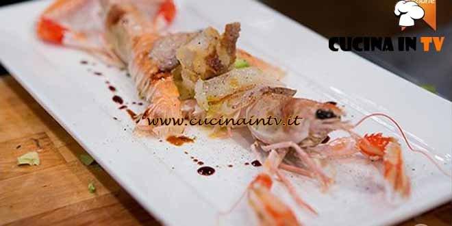Masterchef 4 - ricetta Scampi e avocado in insalata di Filippo