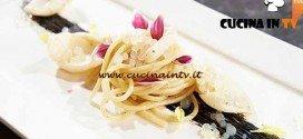 Masterchef 4 - ricetta Spaghetti con seppioline colatura di alici e finto caviale di Arianna