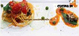 Masterchef 4 - ricetta Spaghetti fritti pomodoro stracciatella di mare ortica e lumache di mare di Filippo