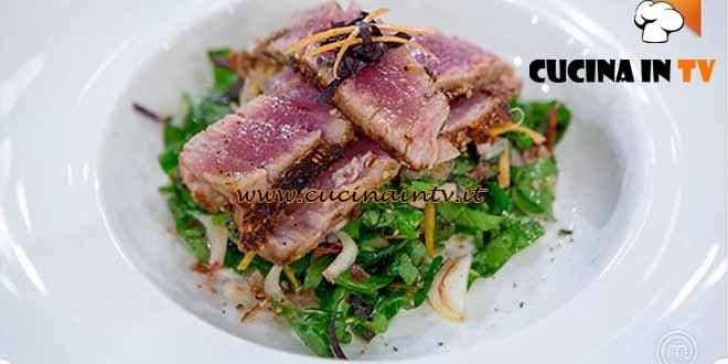 Masterchef 4 - ricetta Tonno in insalata di Nicolò
