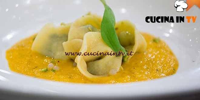 Masterchef 4 - ricetta Tortelli con caviale di lumache e crema di carote di Paolo