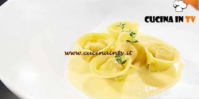 Masterchef 4 - ricetta Tortelli di coniglio con fonduta di Raschera di Paolo
