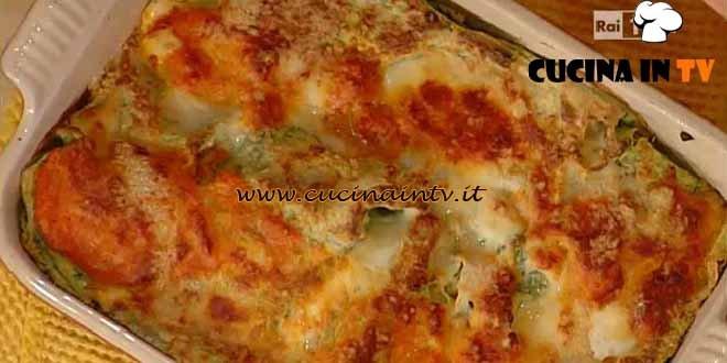 La Prova del Cuoco - Bauletti verdi ripieni di taglioline ai funghi e prosciutto ricetta Spisni