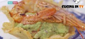 Molto Bene - ricetta Cestino con guacamole e gamberi di Benedetta Parodi