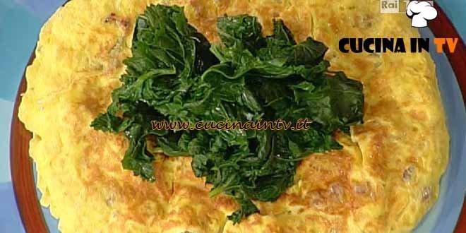 La Prova del Cuoco - Frittatona di uova salsicce e fagioli ricetta Messeri