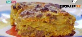 Molto Bene - ricetta Lasagna zucca e salsiccia di Benedetta Parodi