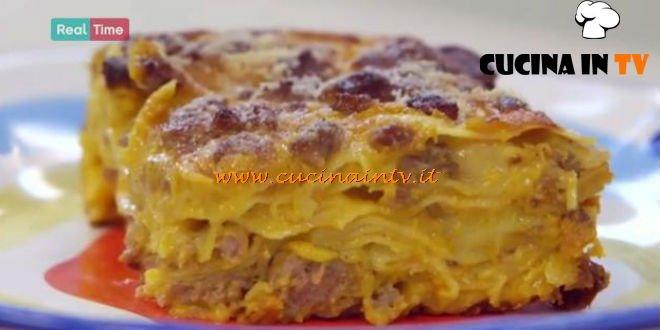 lasagna zucca e salsiccia ricetta benedetta parodi da molto bene ... - Ricette Di Cucina Benedetta Parodi
