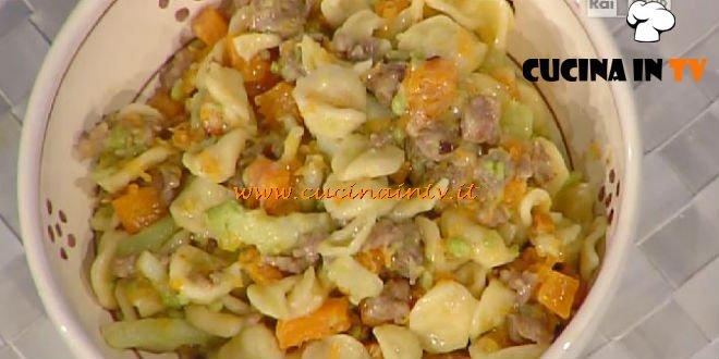 La Prova del Cuoco - Orecchiette con zucca e salsicce ricetta Moroni