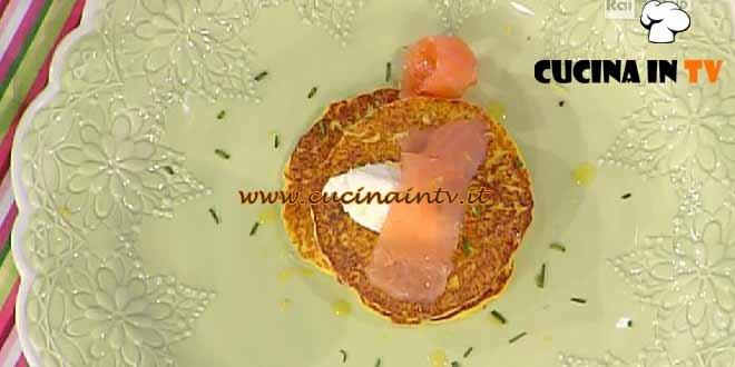 La Prova del Cuoco - Pancakes di patate con rucola e salmone ricetta D'Orazio