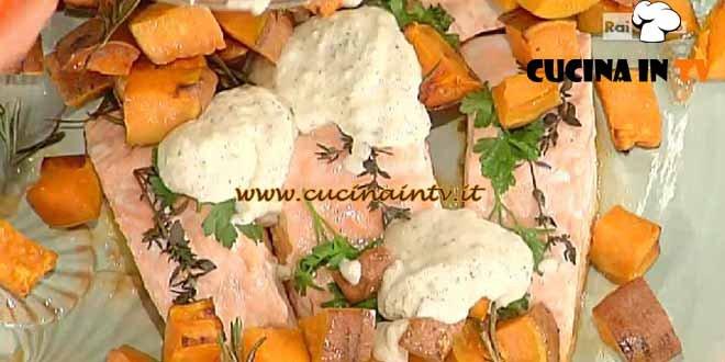 La Prova del Cuoco - Salmone con capperi yogurt e patate dolci ricetta Bianchi