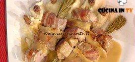 La Prova del Cuoco - Spiedini di maialino e mela renetta al pino mugo ricetta Bertol