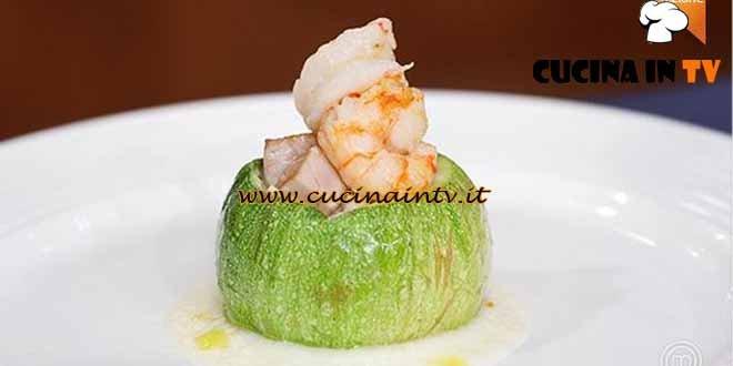 Masterchef 4 - ricetta Zucchina ripiena di cavolfiore e besciamella di Paolo