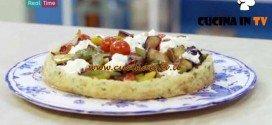 Molto Bene - ricetta Crostata verdure e burrata di Benedetta Parodi