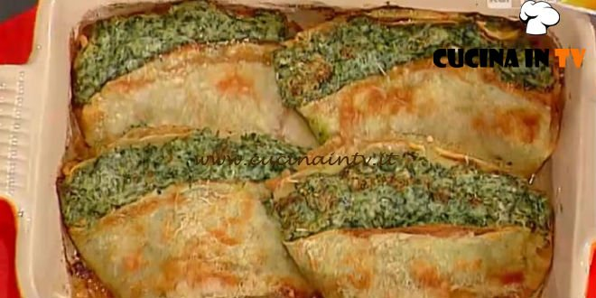 La Prova del Cuoco - Fazzoletti di crepes di farro ricotta e spinaci ricetta Moroni