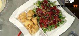 La Prova del Cuoco - ricetta Insalatina montanara di carne salada con frittelle di mele