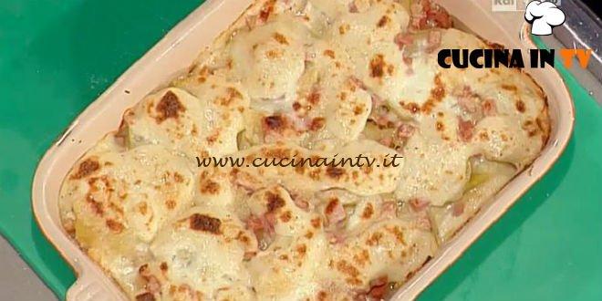 La Prova del Cuoco - Parmigiana di patate con stracchino e mortadella ricetta Moroni