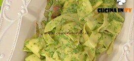 La Prova del Cuoco - Pasta fresca con pesto di lattuga pecorino peperoncino e guanciale ricetta Barzetti