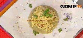 La Prova del Cuoco - ricetta Tajarin con crema carciofi e gocce di crescione