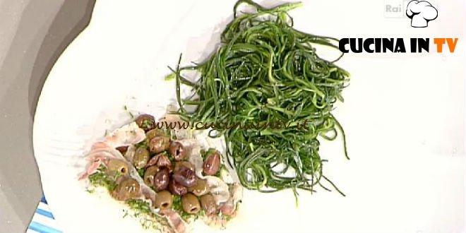 La Prova del Cuoco - ricetta Cernia porchettata al cartoccio con agretti ripassati