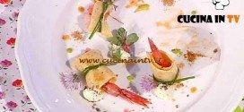 La Prova del Cuoco - ricetta Crêpes piccanti con gamberi e mousse di ricotta