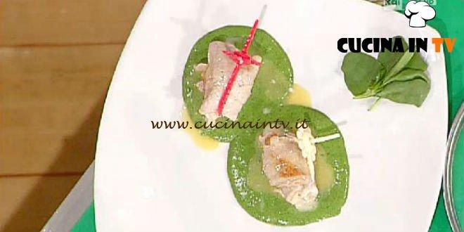La Prova del Cuoco - ricetta Fagottini su vellutata di spinacino
