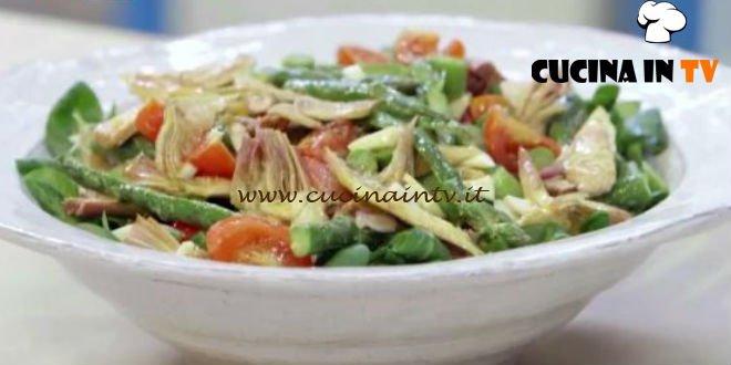 Insalata di asparagi e carciofi ricetta Benedetta Parodi da Molto Bene