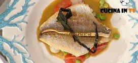 La Prova del Cuoco - Orata con seppiole e piselli ricetta Pascucci