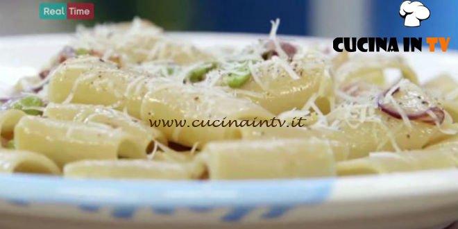 Molto Bene - ricetta Paccheri fave guanciale e pecorino di Benedetta Parodi