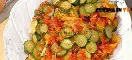 La Prova del Cuoco - Pappardelle variegate con zucchine ricetta Spisni