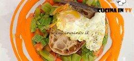 La Prova del Cuoco - Pisto manchego con pane croccante e uovo fritto ricetta Marconi