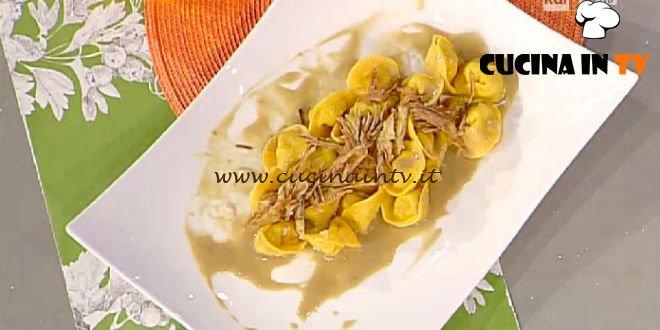 La Prova del Cuoco - Ravioli al baccalà mantecato con carciofi violetti ricetta Scarpa
