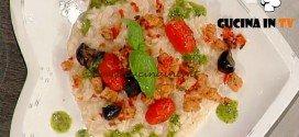 La Prova del Cuoco - Risotto all'acqua di pomodoro con mozzarella e pane croccante ricetta Barzetti