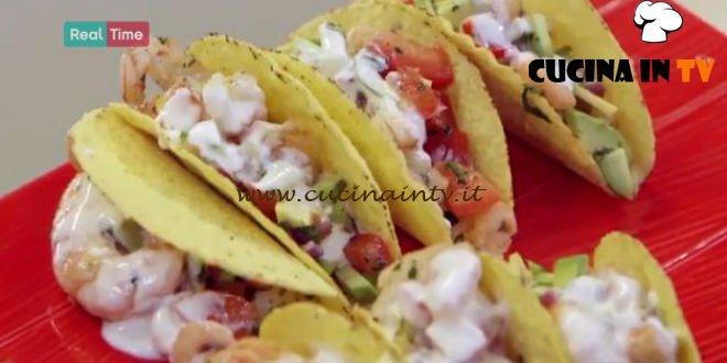 Tacos di gamberi ricetta Benedetta Parodi da Molto Bene