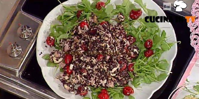 La Prova del Cuoco - Riso venere con ciliegie rucola e formaggio ricetta Moroni