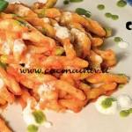 Masterchef 4 - ricetta Strozzapreti con crema di peperone rosso burrata e pesto leggero al basilico di Stefano