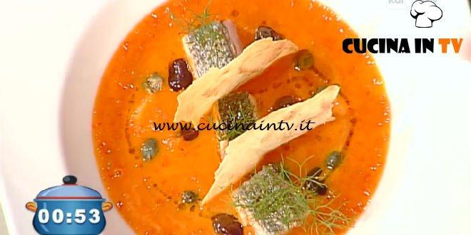 La Prova del Cuoco - Crema di pappa al pomodoro con salmone scottato ricetta Marco Parizzi