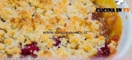 Bake Off Italia 3 - ricetta Crumble dolce mele e lamponi di Daniele