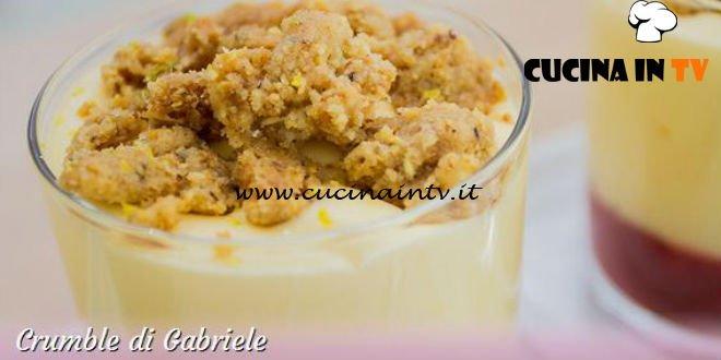 Bake Off Italia 3 - ricetta Crumble di riso alla mela verde cannella e zenzero di Gabriele
