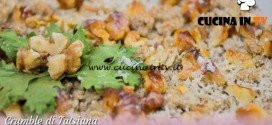 Bake Off Italia 3 - ricetta Crumble alle melanzane di Tatsiana