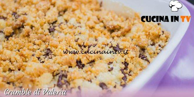 Bake Off Italia 3 - ricetta Crumble pere e lamponi con cioccolato e cannella di Valeria