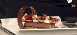 La Prova del Cuoco - Mousse al cioccolato bianco con miele fichi e noci ricetta Guido Castagna