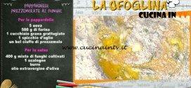 La Prova del Cuoco - Pappardelle prezzemolate ai funghi ricetta Alessandra Spisni
