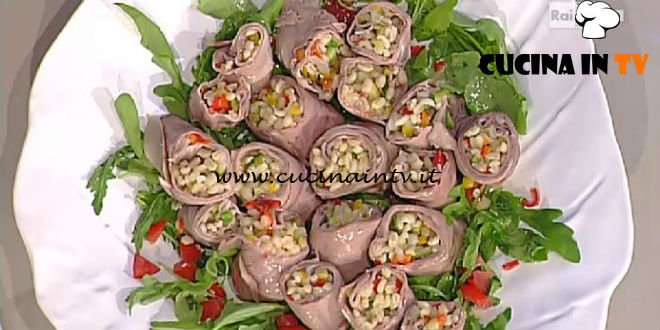 La Prova del Cuoco - Rotolini di roast beef ripieni ricetta Natalia Cattelani