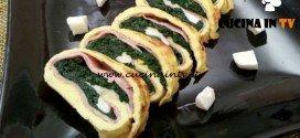 Cotto e mangiato - Rotolo di frittata con spinaci ricetta Tessa Gelisio