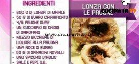 Detto Fatto - ricetta Lonza con le prugne di Tommaso Arrigoni
