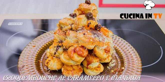 Bake Off Italia 3 - ricetta Croquembouche al caramello e gianduia di Matteo